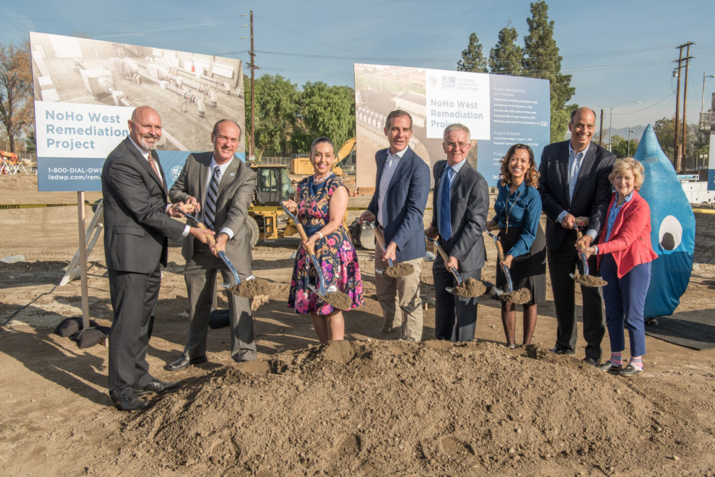 Mayor Eric Garcetti breaking ground on the North Hollywood West Groundwater Treatment Project