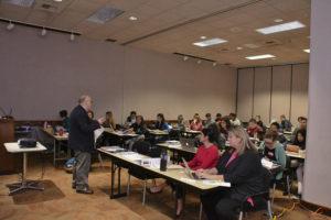 Photo of presentation to Environmental Teacher Institute training session