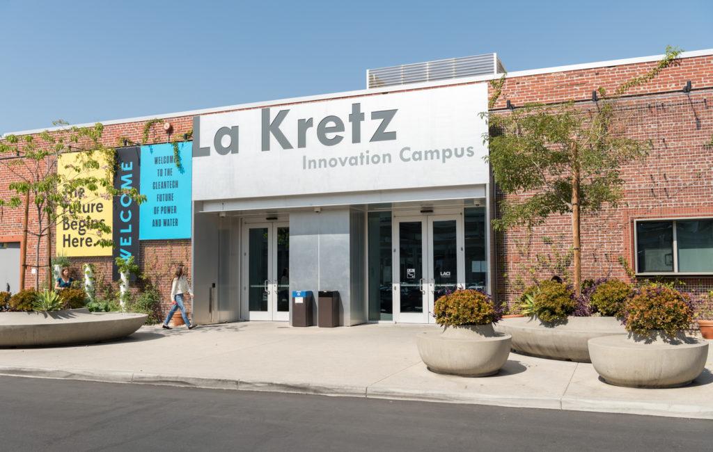 The exterior of LADWP's La Kretz building in LA's Arts District.