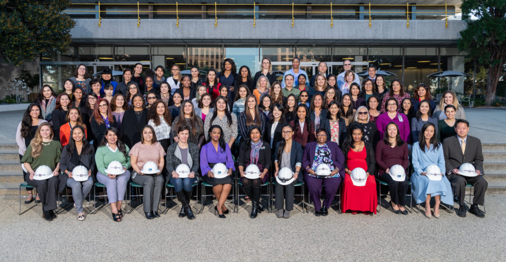 Image of rows of members of LADWP chapter of Society of Women Engineers
