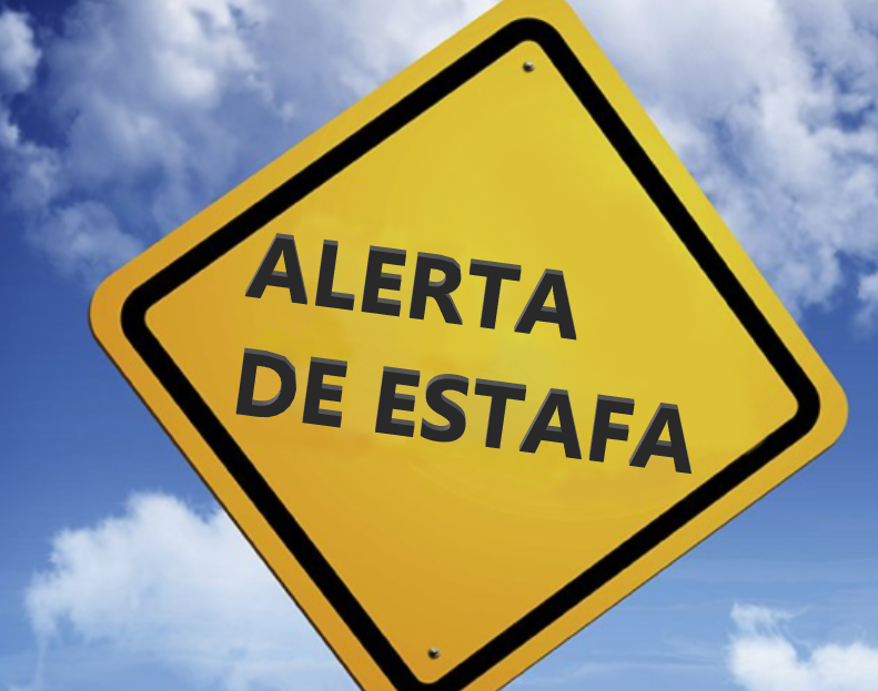 Image of a yellow sign with spanish words