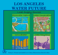 image of various water infrastructures with text that reads los angeles water future