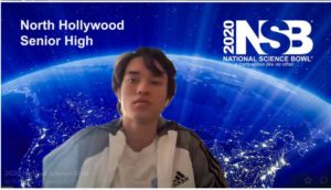 Image of a North Hollywood male student with a virtual background of earth.
