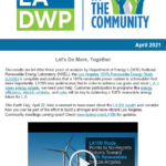 LADWP in the Community Newsletter – April 2021