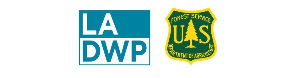 Image of the ladwp logo and the united states forest service logo