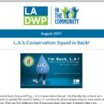 LADWP in the Community Newsletter – August 2021