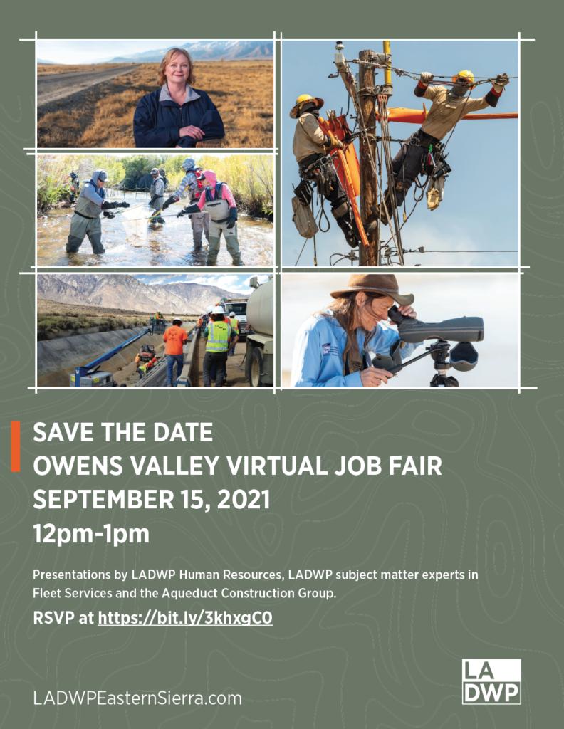 photo of Owens Valley job fair flyer for September 15, 2021