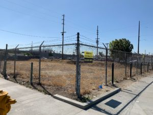 empty lot where future park will be built