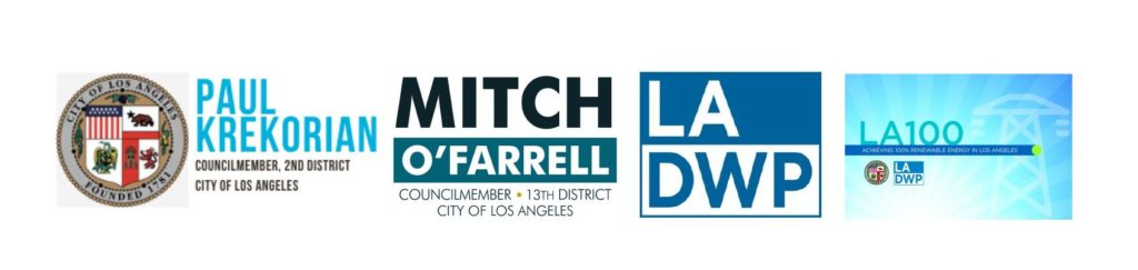 Image of four logo including LADWP logo