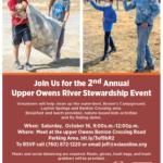 LADWP & Eastern Sierra Interpretive Association 2nd Annual Upper Owens River Stewardship Event