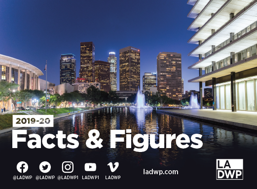 Image of city buildings with text that reads 2019-20 facts and figures
